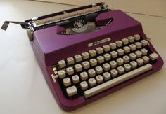 Must try not to do too much typing and, yes, I do remember using one like this!  (Photo by Robert Messenger)