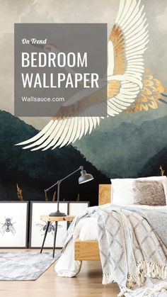 Transform your bedroom into the relaxing space you have always dreamt about with a bedroom wallpaper mural from Wallsauce.com. From watercolour florals to abstract industrial design, there is something for everyone to create the ultimate bedroom space you won't want to leave. Shop our complete collection of bedroom wallpapers by clicking the link! #bedroominspo #bedroomdecor #bedroomideas #bedroomwallpaper #wallpaperinspo #wallpaperdesign #muralinspo #trendingdesign Bedroom Wallpaper Murals, Wall Wallpaper, Wall Murals, Bedroom Inspo, Bedroom Decor, Small Apartment Bedrooms, Design Your Home, Bedroom Styles, Beautiful Bedrooms