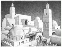Kairouan Tunisia - M.C. Escher, 1928