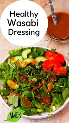 Are you looking for a salad dressing with a little punch that is faithfully delicious and healthy? Look no further! Healthy Wasabi salad dressing is made with just 5-ingredients, no added oil, and is delicious on everything from simple green salads to hearty dishes with grains, noodles, beans, or lentils. We're loving on this 5-minute vegan dressing, and you will be too. Get the recipe for quick instructions, substitutions, and serving ideas.