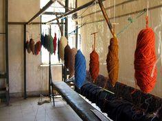 Carpet weaving, Mahan, Iran