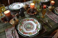 Nancy's Daily Dish: Thanksgiving Tablescape & A Surprise Birthday Party