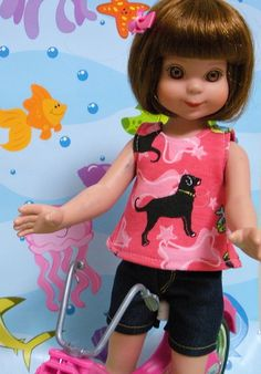 Wonderful World of Dolls -  Fits 14 Inch Tonner Betsy McCall Doll ..Beach-Puppy Tulip Style SummerTop.. D533, $6.99 (http://www.wonderfulworldofdolls.biz/fits-14-inch-tonner-betsy-mccall-doll-beach-puppy-tulip-style-summertop-d533/)