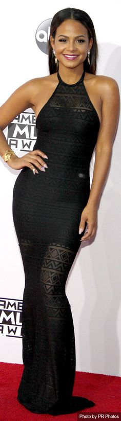 Christina Milian Wearing  Cheyenne Kimora Dress – 2014 American Music Awards