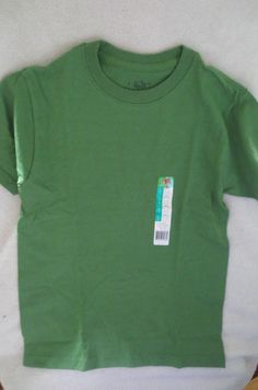 New Young Boy Fruit of Loom T-Shirt  Green  Size L 10-12  New