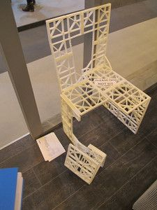 Foldable 3D Printed Chair
