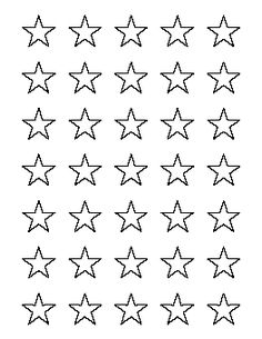 Tiny Star Template  Free Printable Star Templates For MmEtc