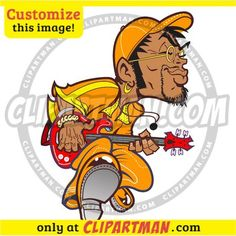 Bass Player & Bassist cartoon clipart - Clipartman.com