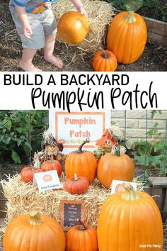 Can't go to the pumpkin patch this year? Make one at home! Super fun pumpkin patch activity for kids during social distancing. Let kids enjoy their own backyard pumpkin patch with these printables and ideas!