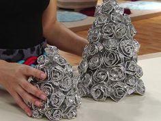 Árvore de Natal de alumínio!   Artesanato & Humor de Mulher
