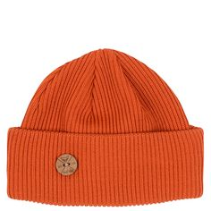 Timberjack Merino Wool Beanie This beanie is as fresh as the forest after rain. Details: Thick quintuble knit with triple fold. organic merino wool Wooden button Made in Finland Merino Wool, Copper, Beanie, Knitting, Detail, How To Make, Rain, Organic, Fresh