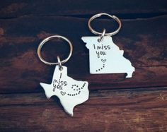 Set of two long distance relationship hand by PreciousPodsBySarahO