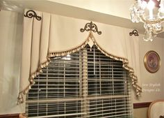 Milan Valance: Sew Stylish Designs LLC Custom Drapery, Design and Fabrication Curtains And Draperies, No Sew Curtains, Elegant Curtains, Home Curtains, Neutral Curtains, Burlap Curtains, Valance Window Treatments, Custom Window Treatments, Window Coverings