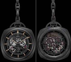 Officine Panerai pocket watch Tourbillion GMT Ceramica