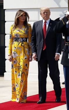 First Lady Melania Trump in Emilio Pucci gown $2,160