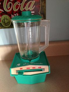 Suzy Homemaker blender - Had one as a kid. Really worked! One sitter used to make milkshakes in it for us. Ran for ages on the same batteries!