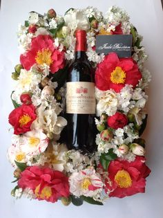 Flowers and French Wine.
