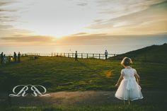 Bridesmaid, sunset. Wedding. Rebecca Roundhill Photography.
