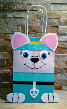 Your place to buy and sell all things handmade Sky Paw Patrol, Paw Patrol Party, Valentine Day Boxes, Valentines For Kids, Paw Patrol Birthday Cake, Goody Bags, Diy Ribbon, Party Bags, Birthday Party Themes