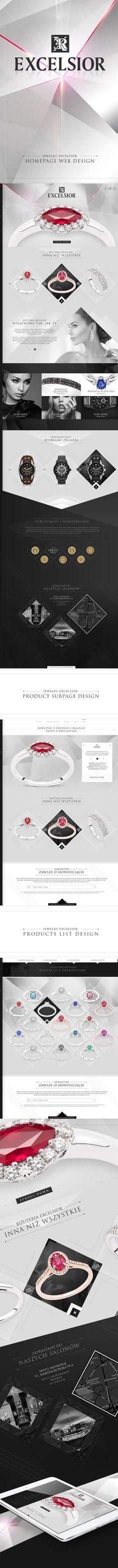 Premium Jewelry Excelsior on Behance Web Design Inspiration, Ecommerce, Behance, Layout, Jewelry, Jewlery, Page Layout, Jewerly, Schmuck