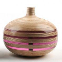 Plywood with translucent acrylic stripes - Sarah Thirlwell