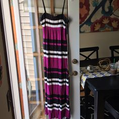 Vibrant maxi dress! One of the easiest summer dresses! Bright colors are striking and it's super comfy! Adjustable straps make it an easy fit! INC International Concepts Dresses Maxi