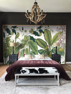 Glam Bedroom, Master Bedroom, Tropical Interior, Luxury Bedroom Design, Mural Wall Art, Self Adhesive Wallpaper, Luxurious Bedrooms, Decoration, Luxury Homes