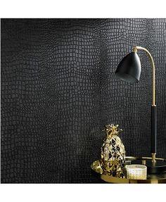 Graham & Brown Graham Brown Crocodile Black Wallpaper & Reviews - All Wall Décor - Home Decor - Macy's
