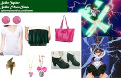 Makoto Kino (Sailor Jupiter)  - That skirt is hideous but those shoes are kinda cool and the jewelry is awesome.