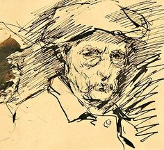 Nicolae Grigorescu, Autoportret Fast Drawing, Guy Drawing, Drawing People, Painting & Drawing, Selfies, Ink Pen Drawings, Global Art, Art Techniques, Cool Artwork