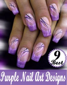Purple designer nails  | See more at http://www.nailsss.com/colorful-nail-designs/3/