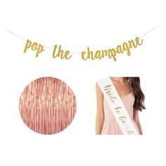 "✔ YOUR IDEAL BUNDLE - Take your bachelorette party to the next level with a beautiful backdrop and stunning decorations. We can only imagine how gorgeous you and your friends will look next to the picture worthy decorations kit. ✔ 3 PIECE BUNDLE ✓ 1 piece - ""Pop The Champagne"" banner (Gold), ✓ 1 piece - ""Bride To Be"" Sash (White and Gold), ✓ 1 piece - Sparkly Backdrop (Rose Gold/Pink)"