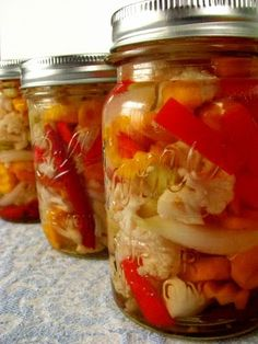mexican pickled vegetables - water bath method (some great tips here)