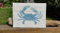 Check out this item in my Etsy shop https://www.etsy.com/listing/292705537/135-x-10-rustic-maryland-blue-crab-on