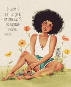 Você é sim 🌸 Todas vocês. E ai de quem te fizer duvidar disso, viu? 💪  . . .   #illustration #digitalart #photoshop #artistsofig Black Girl Art, Black Girl Magic, Black Art, Art Girl, Black Cartoon, Positive Inspiration, Magic Art, Arte Pop, Photoshop