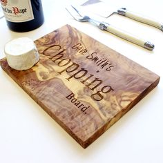 These lovely, personalised artisan chopping boards are ideal for use as a chopping, cheese or antipasti board, made from beautiful olive wood. These make great keepsake gifts and mementos for absolutely any occasion, including Birthdays, Wedding Anniversaries, New Home, Thank You and Leaving presents, Father's and Mother's Day, Christmas, Valentine's Day. Simply choose someone's favourite quote, names and the date of a special occasion, etc. If you can think of it, we can make it!