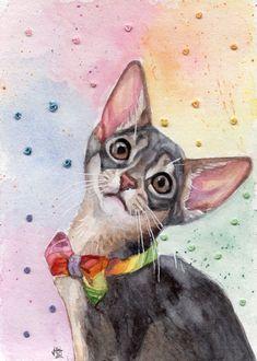 Art Inspiration Drawing, Art Inspo, Animal Paintings, Animal Drawings, Diy Canvas Art, Cat Drawing, Cat Art, Ursula, Fantasy Art