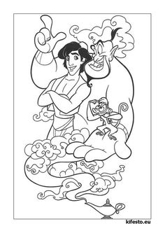 Aladdin Coloring Pages Easy. Aladdin coloring pages. Free coloring pages in a variety of topics, for printing and coloring. Coloring Pages Aladdin and Jasmine free and free colori. Cartoon Coloring Pages, Coloring Pages To Print, Free Printable Coloring Pages, Coloring Book Pages, Coloring Pages For Kids, Disney Princess Coloring Pages, Disney Princess Colors, Disney Colors, Disney Printables