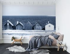Wall mural R13691 Boathouse Blues