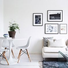 Monochrome and mid-century in lovely Swedish spaces