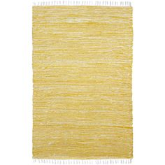 Yellow Reversible Chenille Flat Weave Area Rug (3' x 5')