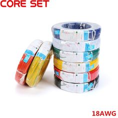 10 Meters UL 1007 Wire 18AWG 2.1mm PVC Wire Electronic Cable UL Certification Insulated LED Cable For DIY Connect 8 Color