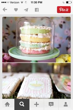 A baby sprinkle, you say? You need to see the baby sprinkle showers here at Kara's Party Ideas. Find baby sprinkle food, decor, and party ideas here! Pretty Cakes, Cute Cakes, Beautiful Cakes, Baby Shower Cakes, Baby Shower Parties, Baby Showers, Shower Baby, Pastel Cakes, Colorful Cakes