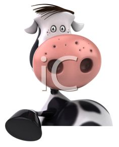 iCLIPART - Royalty Free Clipart Image of a Holstein Cow