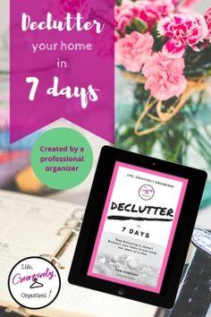 Declutter in 7 days e-book