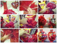 Valentine's Day DIY Gifts for Him. Junk Food Bouquet. I made several of these, they sell very well and are cheap to make!