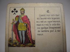 Antique French FORTUNE TELLING CARDS circa  1920