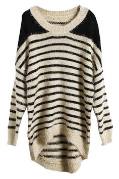 Knitted stripe jumper sweater.