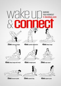 Wake Up Connect Workout Concentration - Full Body - Difficulty 4 - Suitable for . Wake Up Connect Workout Concentration - Full Body - Difficulty 4 - Suitable for Beginners --> zum optimalen Yoga Equ Pilates Workout, Fitness Workouts, Yoga Fitness, Training Fitness, At Home Workouts, Wake Up Workout, Beginner Bodyweight Workout, Fitness Diet, Night Workout