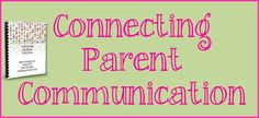 Connecting Parent Communication - directions for how to make your own Classroom Parent Handbook!